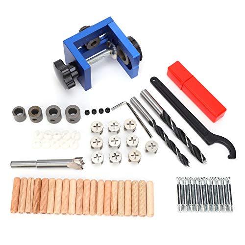 Kit de plantilla de clavijas, guía de taladro de posicionador de punzón, herramienta de posicionador de punzón, clavija de madera para carpintería, carpintería