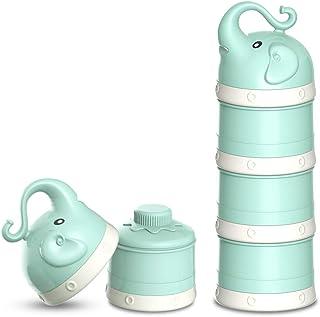 ORIY Baby Milk Powder Formula Dispenser,Large Capacity,Non-Spill Twist-Lock Stackable Milk Powder Formula C...