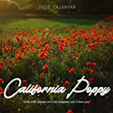California Poppy 2022 Calendar: Beautiful Calendar with Large Grid for Note - To do list, Gorgeous 8.5x8.5   Small Calendar, Non-Glossy Paper