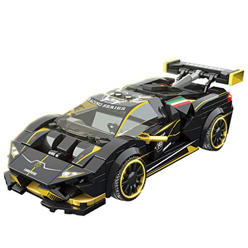 IIKA Technik Bausteine für Lamborghini Sportwagen, 360stk Technic Auto Rennwagen Bausatz Kompatibel mit Lego Technik
