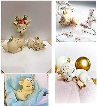 Sonno cervo forma di stampo in silicone carino pet cake cioccolato 3D tridimensionale cervo commestibile stampo decorazione in silicone Candele Di Natale Stampi Akin Candele Stampi