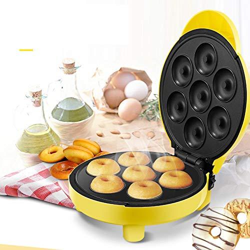 XCXDX Máquina para Hacer Galletas Mini Fabricante De Rosquillas con 7 Platos Antiadherentes De Donas para Una Cocina Divertida