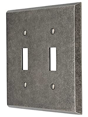 House of Antique Hardware R-010II-215 Industrial Double Toggle Switch Plate with Galvanized Finish