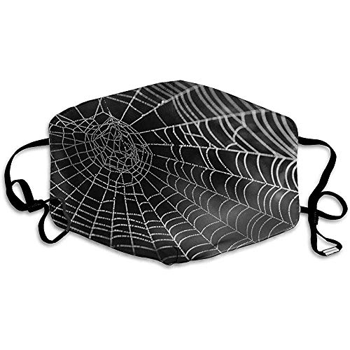 Spinnennetz mit Wasserperlen Netzwerk Tautropfen Mundmaske Wiederverwendbare waschbare Bequeme Gesichtsmaske Anti-Staub