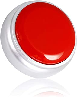 Cover 30 Seconds Recordable Talking Button Record Button Toy Gift Answer Buzzers, RED+Silver