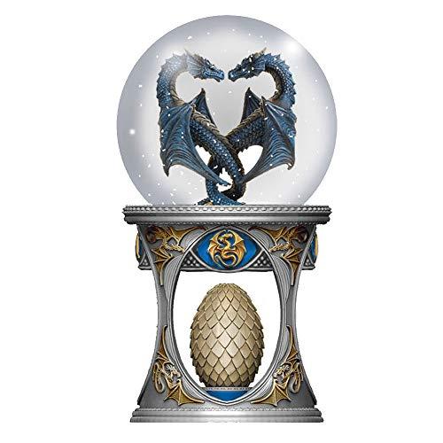 Nemesis Now Anne Stoke Dragon Heart Snow Globe Shaker, poliresina, Dorado, 18,5 cm