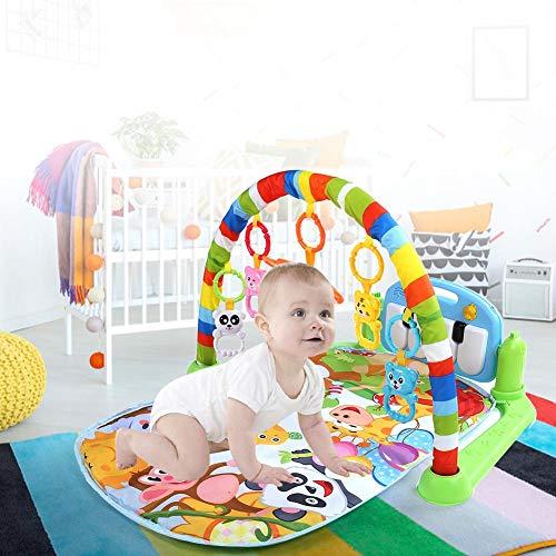Cikonielf Tappetino da Gioco Fitness per Bambini Tastiera per Pianoforte Musicale Palestra Tappeto Giocattolo Educativo per Bambini 0-18M