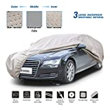 Shieldo Thick Shell Car Cover Waterproof Windproof Snowproof All Season Weather-Proof Fit Ford F150 Ram 1500 Chevy Silverado Toyota Tundra GMC Sierra Full Size Truck Length Up to 233'