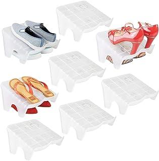 mDesign Juego de 8 organizadores de zapatos – Guarda