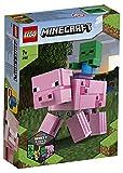 LEGO Minecraft - BigFig: Cerdo con Bebé Zombi, Set de Construcción Inspirado en el Videojuego, Incluye Figuras de Juguete de los Personajes, a Partir de 7 Años (21157)