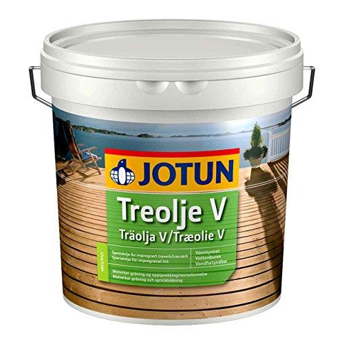 Jotun Treolje Holzöl GOLD 3l Holzschutz aus Norwegen, Holzschutzöl mit hohem UV-Schutz