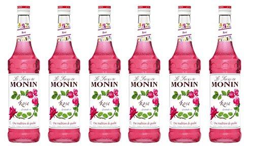 Monin Sirup Rose, 0,7L 6er Pack