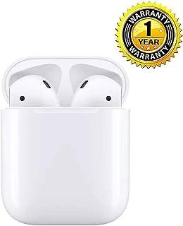 完全ワイヤレスイヤホン iPhone Airpods 用 Bluetooth対応 マイク付き ヘッドセットタッチコントロール 対応Siriへアクセス 左右分離型