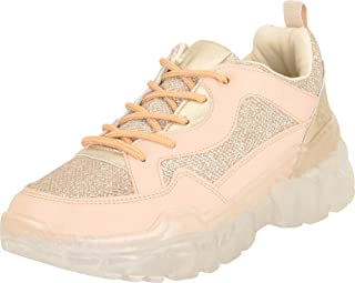 Cambridge Select Women's Retro 90s Ugly Dad Glitter Chunky Clear Platform Fashion Sneaker