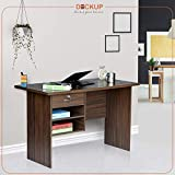 Deckup Giona Office Table and Study Desk (Walnut, Matte Finish)