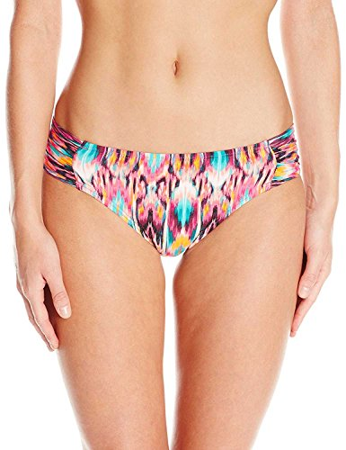 Kenneth Cole New York Women's Side Shirred Hipster Bikini Swimsuit Bottom, Purple // Ikat Get Enough, Small