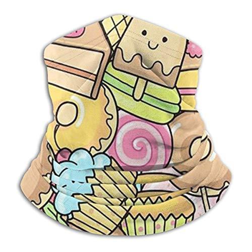 ShiHaiYunBai Tour de Cou Cagoule Microfibre Chapeaux Tube Masque Visage, Dessert Fleece Neck Warmer - Reversible Neck Gaiter Tube, Versatility Ear Warmer Headband & For Men And Women