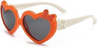 HQPCAHL - Gafas De Sol para Niños Niñas Goma Lindas Gafas De Sol Polarizadas En Forma De Corazón Marco Flexible Protección UV400 para Niños Niños Y Niñas De 3 A 12 Años
