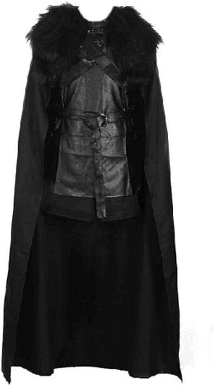 aquí tiene la última Capa Negra para Hombres CosJugar de Jon Nieve Nieve Nieve Cinturón Disfraz con Accesorios Juego de Tronos Halloween Fiestas Regalo y Colección  centro comercial de moda