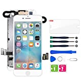 for iPhone 7 Plus Screen Replacement White, LCD Display with 3D Touch Screen Digitizer Frame Assembly with Proximity Sensor+Earpiece+Front Camera+Screen Protector and Repair Tool (5.5'')