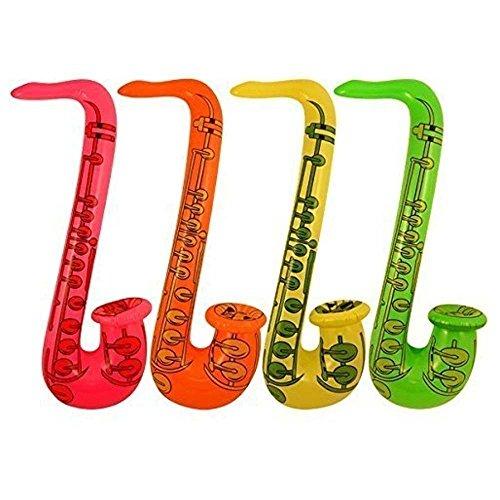 Gifts 4 All Occasions Limited SHATCHI-1202 Shatchi opblaasbare saxofoon voor vrijgezellenfeest, bruiloft, speelgoed, meerkleurig