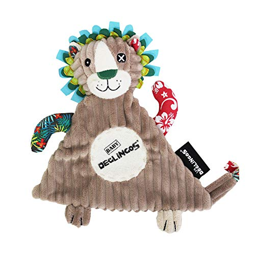 Les Déglingos - Jélékros Le Lion -  Doudou pour BeBe et Enfant - Tissu Doux - Peluche - Ludique - Jouet éducatif - Convient dès la naissance