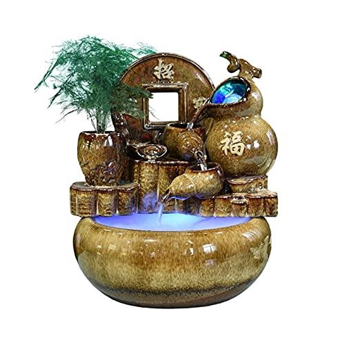 Fuente Agua Feng Shui 15.3 'Fuente de agua de la mesa de mesa - Fuente Fengshui Decoración de interiores  MEDITACIÓN DE ZEN MEDITAP TABLETERA DECORATIVO PARA OFICINA Y Decoración del hogar Bonsais Na