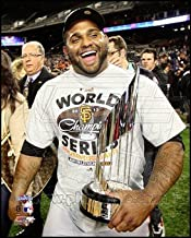 Pablo Sandoval with the World Series MVP Trophy Game 4 of the 2012 World Series Art Poster PRINT Unknown 8x10