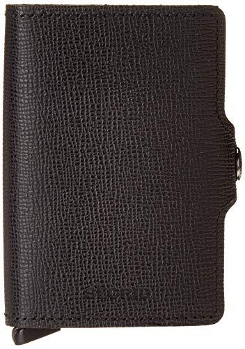 Secrid Crisple Twinwallet - Cartera con protección RFID (7 cm), Color Negro