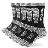 yuedge 5 paia uomo calze sportivi calzini da trekking calzini lavoro cotone traspirante 38-43