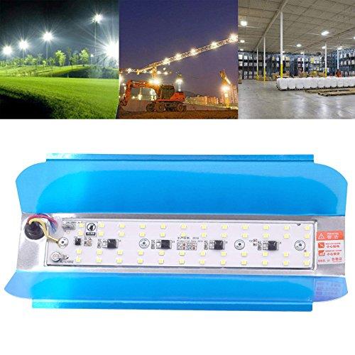 Ledmomo LED-schijnwerper SMD 2835, 48 LED's, 50 W, IP65, waterdicht, Iode Tungsten halogeen, lamp floodlight, 220 V, bouwverlichting, buitenverlichting (wit licht)