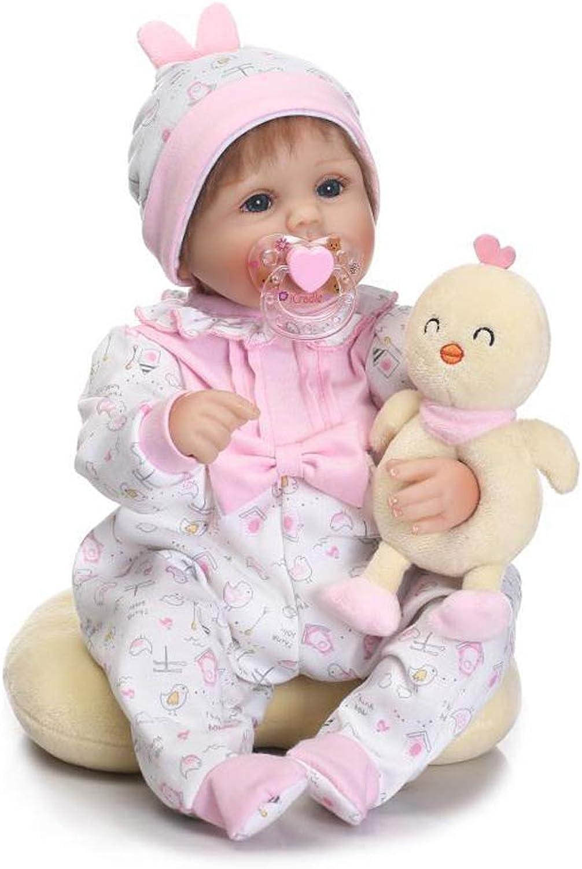 IIWOJ 42cm Reborn Babypuppe simuliert Big-Eyed Silikon Mdchen Puppe, Geschenk für Mdchen
