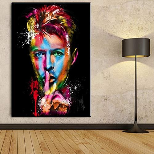 Danjiao Leinwand Moderne Hd Drucke Wandkunst 1 Panel Bilder David Bowie Singer Songwriter Erstaunliche Poster Wohnkultur Gemälde Rahmen Wohnzimmer 60x90cm