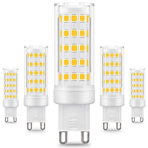 Prosperbiz, Pursnic 5er Pack G9 LED-Birnen - 8W / 650LM, ersetzt 75W-Glühlampen, warmweiß, 3000K, 360° Abstrahlwinkel
