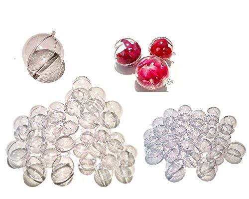 CRYSTAL KING Lot de 45 boules en acrylique transparent divisible 6/5/4 cm 6 cm 5 cm 4 cm Mélange de boules en plastique acrylique acrylique 60 mm 50 mm 40 mm