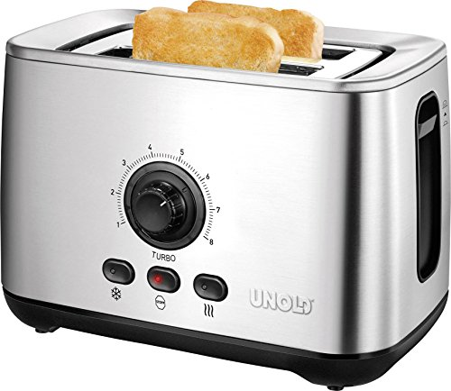 Unold Toaster Turbofunktion Toaster Turbo acier affiné