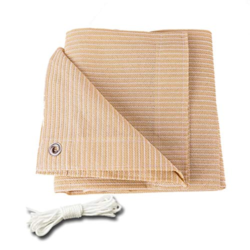 Shade Cloth HDPE 90% Sun Block Garden Shade Netting Mesh - Beige With Grommets On 4 Sides For Patio/Awning/Window Cover/Pergola/Gazebo (Size : 3Mx5M)