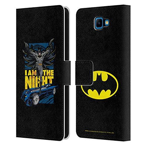 Head Case Designs - Funda de piel con tapa para Samsung Galaxy S3, diseño de Batman DC Comics, compatible con Compatibilité: Samsung Galaxy J4 Core