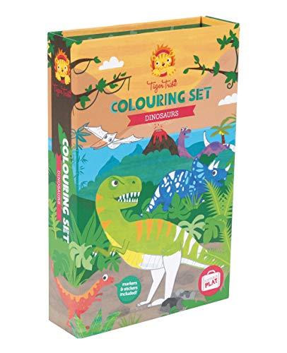 Tiger Tribe- Colouring Sets/Dinosaur Kits de Acuarelas, Multicolor (3714013)