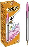 BIC Cristal Fun bolígrafos Punta Ancha (1,6 mm) – Rosa, Caja de 20 unidades...