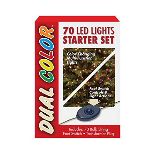 National Tree 70 Bulb Dual Boxed Low Voltage LED Lights Starter Set with 9-Function Footswitch and Transformer (LS21-801-70)