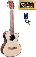 Kala KA-STGE-C Solid Spruce Top Gloss Tenor Electric Acoustic Ukulele w/Tuner