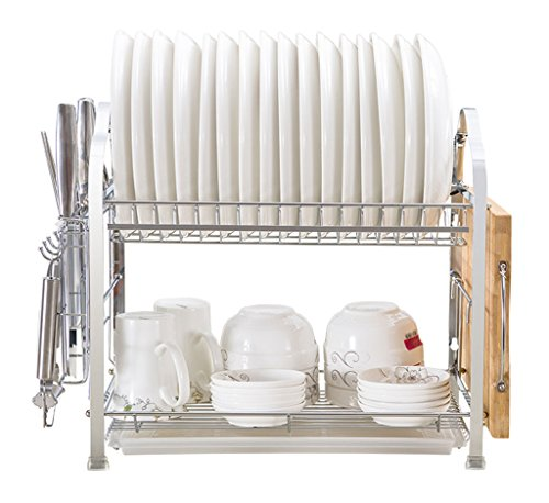 Étagère de cuisinière étagère de cuisine porte-drains étagères de vaisselle fournitures ustensiles Air Bowl baguettes mur suspension incorporée 2 couches 41.3 * 25 * 37.6cm ( taille : 41.3*25*37.6CM )