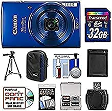 Canon PowerShot Elph 190 is Wi-Fi Digital Camera (Blue) with 32GB Card + Case + Battery + Tripod + Kit