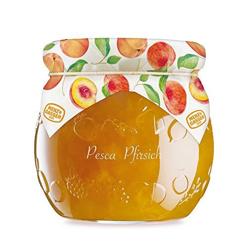 Menz&Gasser Edel Confettura Extra di Pesca 55%, con Frutta di Alta Qualità, 1 Vaso x 620 g