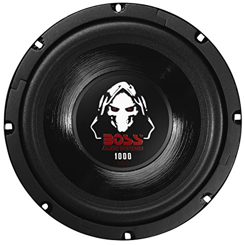 BOSS Audio P80DVC Phantom 8 Zoll 1000 Watt Subwoofer, schwarz