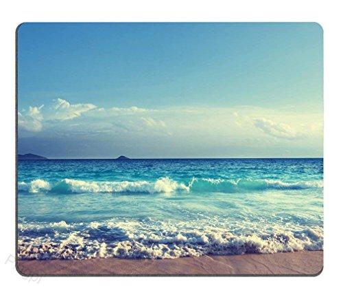 Rae Esthe Autoaccessories_deal2018 Alfombrilla de ratón de diseño Personalizado, Seychelles Beach en Sunset Time Gaming