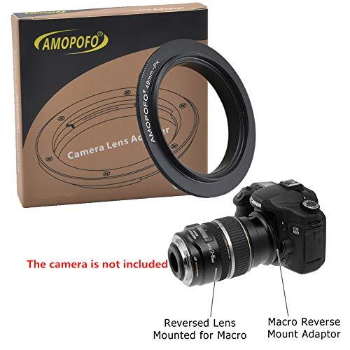 PK to 49mm Retroadapter/49mm-Pentax K Makro Umkehrring Ring,Kompatibilität Pentax K PK Kamera,K-3 K-50 K-5 II K-30 K-01 K-5 K200 K200D K10D KP K-70 K-50 K-30 K-20 K-10,für Makroaufnahmen