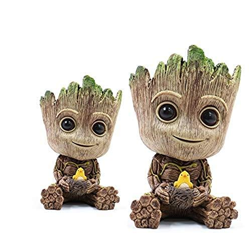 Groot Figurines Fashion Guardians of the Galaxy Flower Pot Cute Baby Toy Pen Pot Best Christmas Gifts for Children