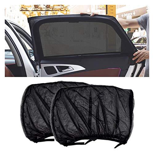 Coche Sun Shade Parasol 2 unids Accesorios de estilo de coches Sombra de sol Auto UV Protege cortina Ventana lateral Sombrilla Sol Devash Sun Visor Protección Ventana Películas mascotas pueden estar m